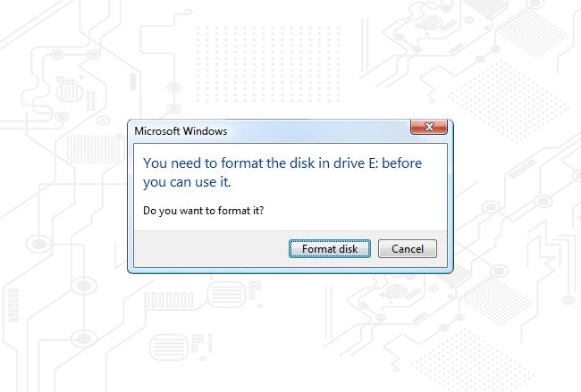آموزش حل ارور You need to format the disk فلش مموری|رایانه_کمک_آموزشی