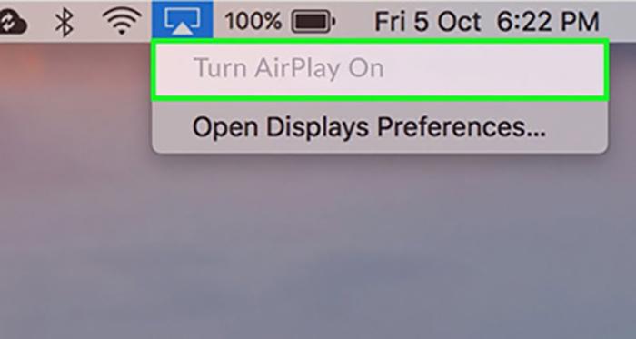 فعال کردن قابلیت ایرپلی در mac | تلفن پشتیبان کامپیوتر