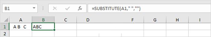 تابع SUBSTITUTE برای حذف فواصل اضافی | خدمات کامپیوتری آنلاین