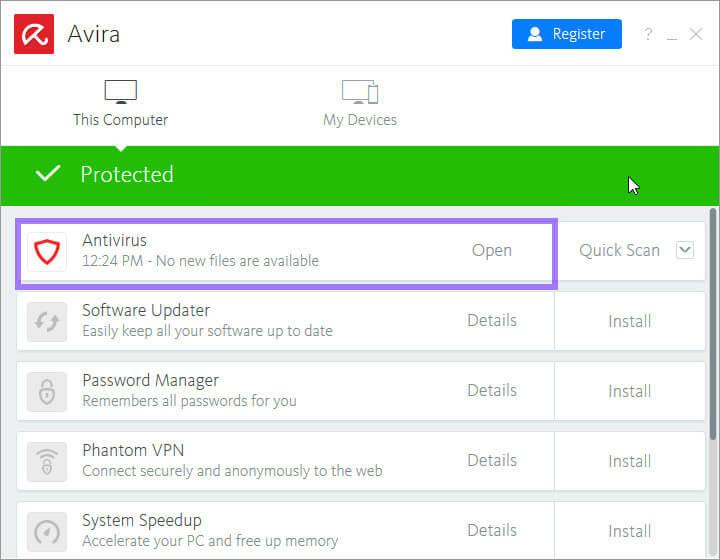 فعال سازی آنتی ویروس Avira | حل مشکل و ارورهای کامپیوتری