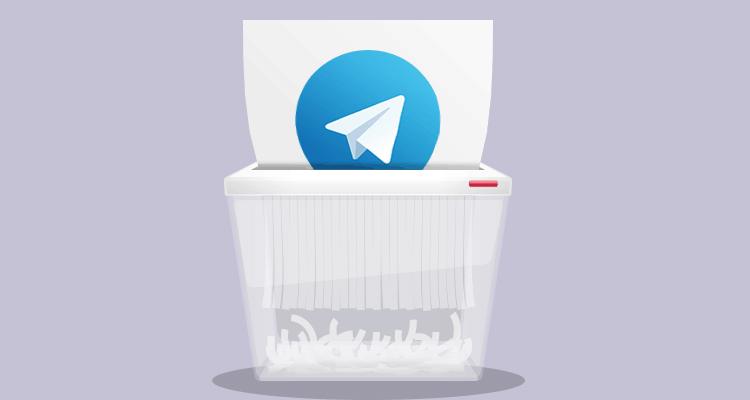 پاک کردن تلگرام  رایانه کمک