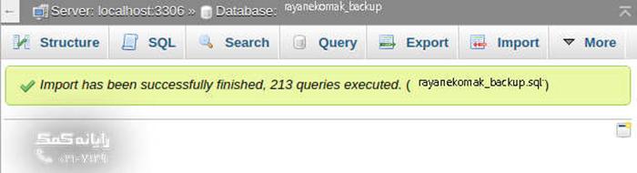 rayanekomak_import-database-success